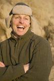 homme heureux d'années '40 Images libres de droits