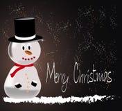 Homme heureux de neige Photo stock