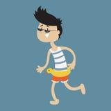 Homme heureux des vacances illustration stock