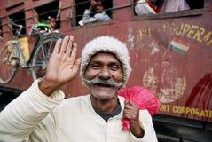 homme heureux Népal Photographie stock libre de droits