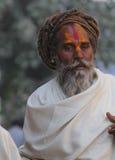Homme indien avec le rasta et le tilak tipycal Image stock