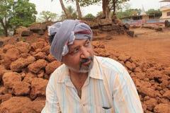 Homme indien moderne de village Photo stock