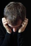 Homme inquiété Image stock