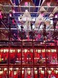 Homme intérieur Mo Temple de bobines d'encens photo libre de droits