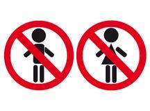 Homme interdit, un femme. Illustration Libre de Droits