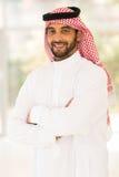 Homme islamique à l'intérieur Photographie stock libre de droits