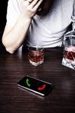 Homme ivre avec des problèmes Photos libres de droits
