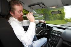Homme ivre dans la voiture Photo libre de droits
