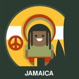 Homme jamaïcain dans l'illustration lumineuse de vecteur de vêtements illustration libre de droits
