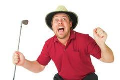 Homme jouant au golf #1 Photos libres de droits
