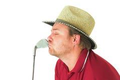 Homme jouant au golf #1 Images libres de droits