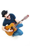 Homme jouant la guitare Photo libre de droits