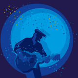 Homme jouant la guitare illustration de vecteur