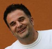 Homme/juste heureux Unshaved photo libre de droits