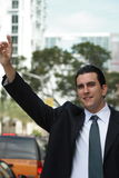 Homme latin bel d'affaires Image libre de droits