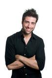 Homme latin de sourire photographie stock libre de droits