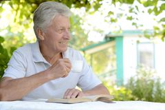 Homme lisant un livre images libres de droits