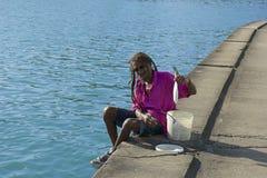 Homme local au St Lucia, des Caraïbes Images libres de droits