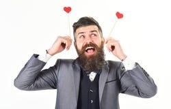 Homme mûr avec la longue barbe et le visage gai Photos stock