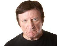 Homme mûr sceptique Photo stock