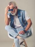 Homme mûr élégant bel Photographie stock libre de droits
