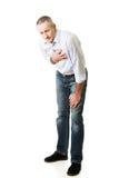 Homme mûr avec la maladie cardiaque Photographie stock libre de droits