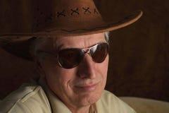 Homme mûr dans le chapeau de cowboy Photo libre de droits