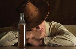 Homme mûr dans le chapeau de cowboy Images stock