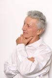 Homme mûr glorieux dans la chemise Image libre de droits