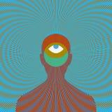 Homme magique psychédélique avec l'oeil Image libre de droits