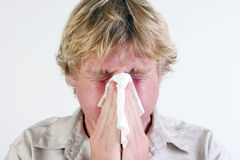 Homme malade. Photo stock