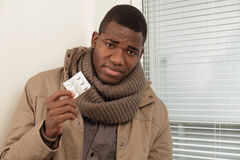 Homme malade photographie stock