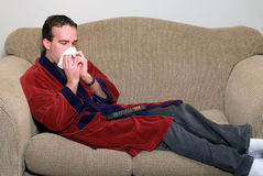 Homme malade Images stock