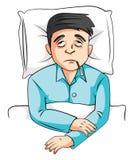 Homme malade Photographie stock libre de droits