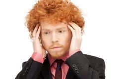 Homme malheureux Images stock