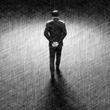 Homme marchant loin illustration de vecteur