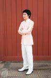 Homme/marié thaïlandais dans le costume thaïlandais de mariage Image libre de droits