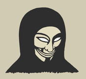 Homme masqué Photos libres de droits