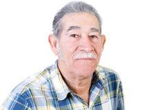 Homme mexicain âgé par milieu sérieux Photo stock