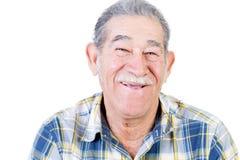 Homme mexicain heureux avec la chemise de moustache et de flanelle photo libre de droits