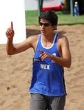 Homme Mexique numéro un de volleyball de plage Photos libres de droits