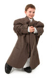 Homme minuscule bel d'affaires Images libres de droits