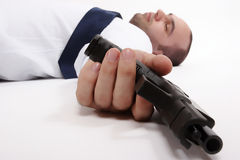 Homme mort Photographie stock