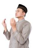 Homme musulman faisant la prière Image libre de droits