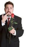 Homme nerveux de Rose Images libres de droits