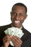 Homme noir d'argent image libre de droits
