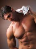 Homme nu avec la chemise Photo stock