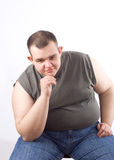 Homme obèse Photo libre de droits