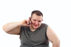 Homme obèse Images stock