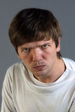 Homme obtenant fâché Photographie stock libre de droits